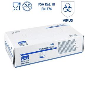 Produktfoto Peha-soft® nitrile FINO puder-/latexfreie Einmalhandschuhe im Spenderkarton